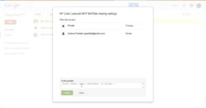 Share printers with google cloud print